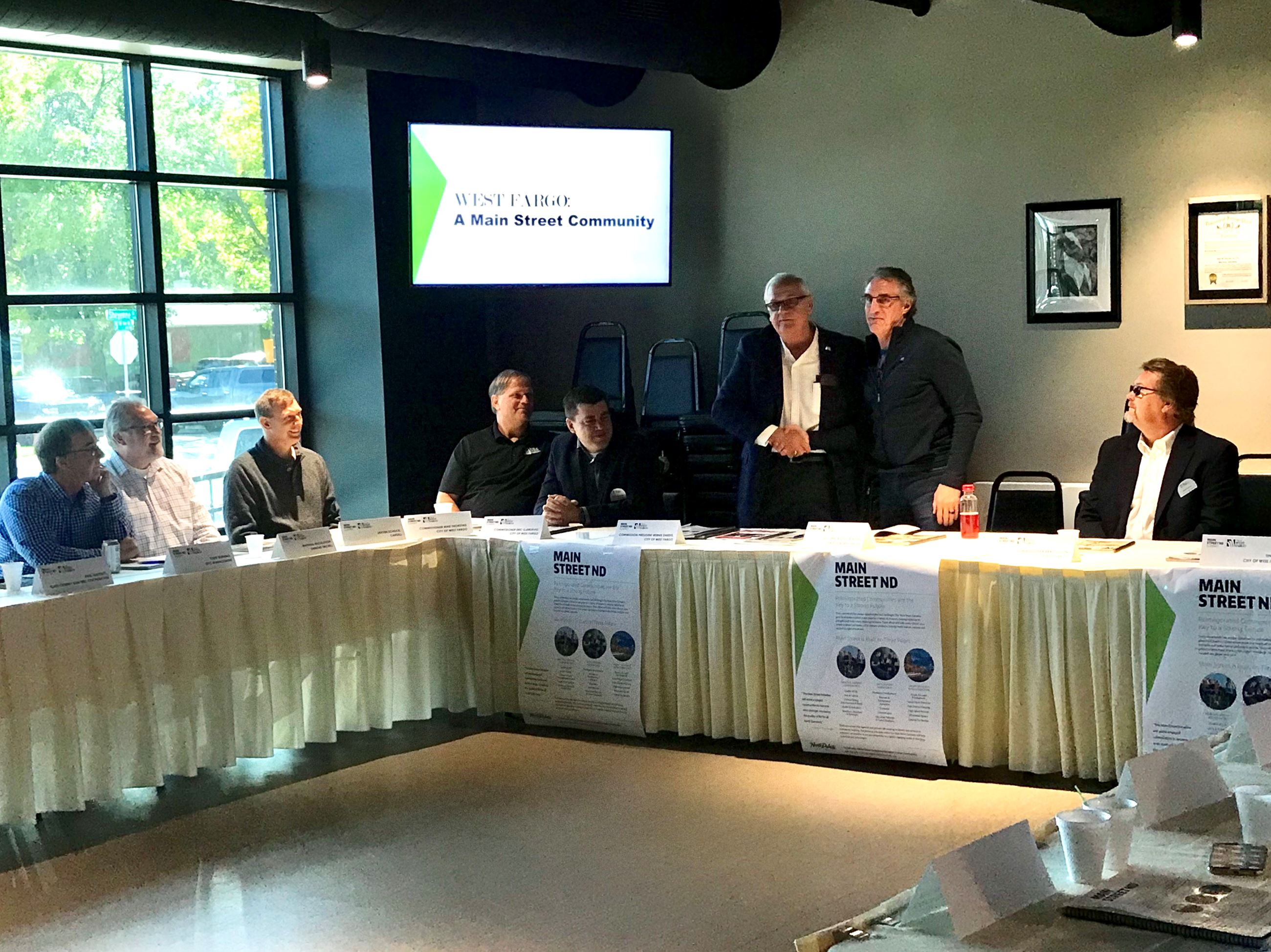 Commission President Bernie Dardis and North Dakota Governor Doug Burgum host a Main Street Summit i