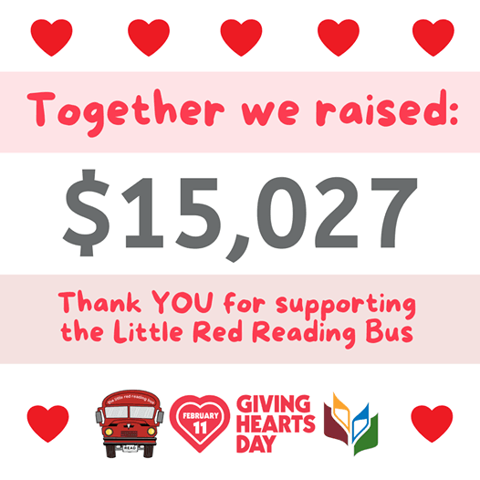 Thank you for your support this Giving Hearts Day!