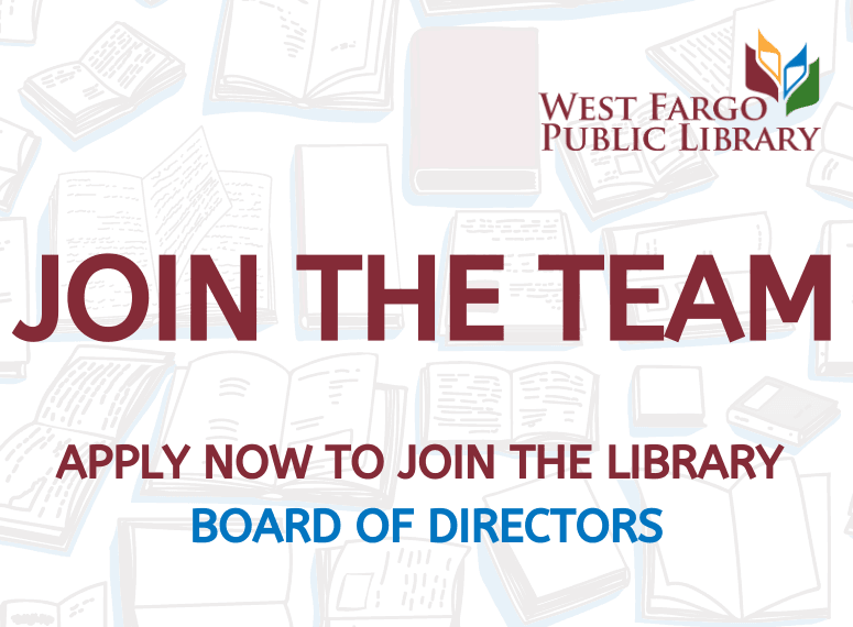 Join the team! Apply now for the library board of directors.